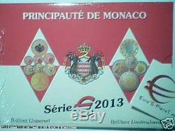 MONACO 9 monete 5,88 EURO 2013 fdc ORIGINALE con 2 euro Albert Alberto e ONU UNO