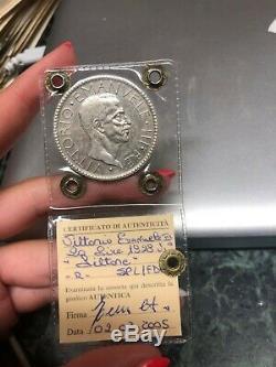 MONETA REGNO D' ITALIA 20 LIRE LITTORE 1928 RARA sigillata SPL/FDC