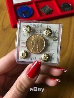 MONETA REGNO D' ITALIA 50 LIRE LITTORE 1931 IX ORO sigillata SPL/FDC SUBALPINA