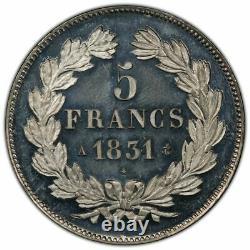 Magnifique Epreuve 5 Francs Domard en étain Essai-Concours PROOF Qualité FDC