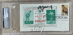 Max Schmeling Signed Vintage Glove 1954 & First Day Cover Joe Louis (PSA)