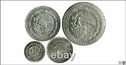 Mexico Juego 4 monedas 1998 / 27,90 gr. Plata / De 1/20 a 1/2 onza FDC / MS KM0