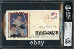 Mickey Mantle Autographed Signed First Day Cover Yankees Beckett 12307020