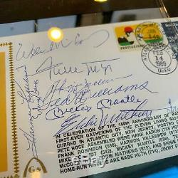 Mickey Mantle Ted Williams Willie Mays 500 Home Run Club Signed First Day Cover