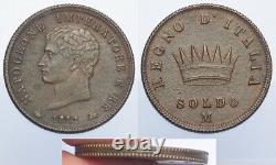 Milano Soldo 1811 Prova di Bordo q. FDC RRRR Napoleone I (e70)