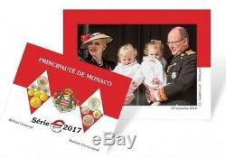 Monaco 2017 Coffret Fdc 8 Pieces Euro Toujour Sceler