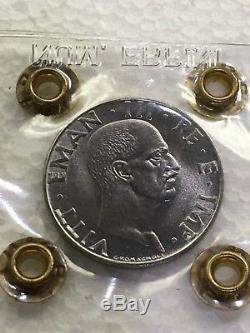 Moneta 50 centesimi IMPERO 1943 RARA FDC periziata Erpini Gianfranco
