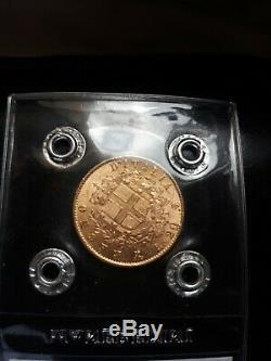 Moneta, Italia, Vittorio Emanuele II, 20 Lire, 1873, Milan, FDC, Oro NO LOTTO