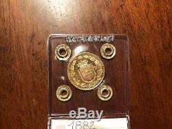 Moneta REGNO D' ITALIA 20 lire 1882 UMBERTO I ORO sigillato SPL/FDC MARENGO