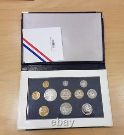 Monnaie de Paris Coffret BE Belle Epreuve PROOF 11 pièces 1993