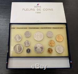Monnaie de Paris Coffret FDC Fleur de Coin 12 pièces 1986