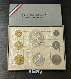 Monnaie de Paris Coffret FDC Fleur de Coin 1969 avec 8 monnaies