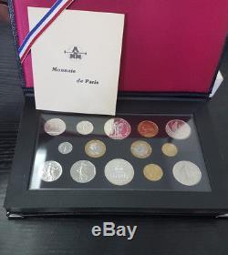 Monnaie de Paris Coffret FDC Fleur de coin 14 pièces 1989 Montesquieu
