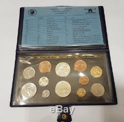 Monnaie de Paris Coffret FDC Fleurs de Coins 12 pièces 1984