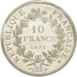 Monnaies, France, 10 Francs, 1971, FDC, Argent, KMP435, Gadoury183. P1 #18433