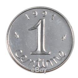 Monnaies, V ème République, 1 Centime Epi #20011