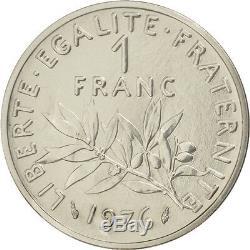 Monnaies, Vème République, 1 Franc Semeuse 1976, Piéfort, KM P554 #92029