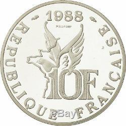 Monnaies, monnaie, France, 10 Francs Garros Piéfort, 1988, FDC #471977