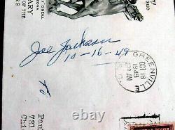 Mrs Shoeless Joe Jackson 1919 White Sox Black Sox Signed Auto 1949 Fdc Jsa Loa