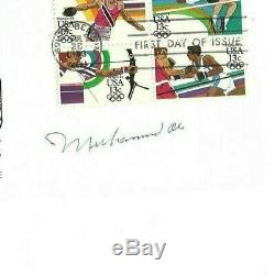 Muhammad Ali Heavyweight Champ Boxing Autographed First Day Cover PSA Letter