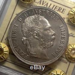 N. I. P. Cavaliere Austria 1 Fiorino 1884 A Fdc Eccezionale