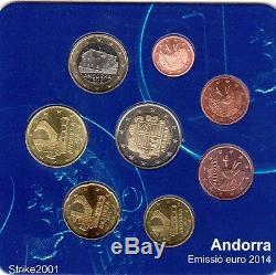 NEW! Euro ANDORRA Starter Kit Ufficiale 2014 8 monete Fdc