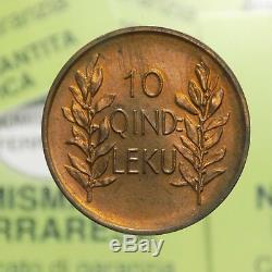 NF Albania 10 Quindar Leku 1926 Roma FDC eccezionale Rame Rosso §783.1