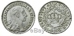 NH Ferdinando IV di Borbone Tarì 20 Grana 1795 NC FDC Spettacolare