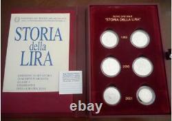 NL ITALIA Storia della Lira 3 DITTICI Argento 1999/2000/2001 FDC Set Zecca perf