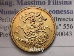 NL U. K. ELISABETTA II Half Sovereign Mezza Sterlina Oro Gold 2008 FDC /B. UNC