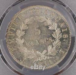Napoléon 5 Francs 1811 T Nantes Superbe à FDC PCGS MS62 Collection idéale