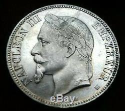 Napoléon III 5 Francs 1868 BB strasbourg SPL/FDC