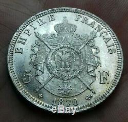 Napoléon III 5 Francs 1870 BB strasbourg SPL/FDC