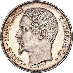 Napoleon III Epreuve sur flan bruni 5 Francs 1852 Proof FDC magnifique