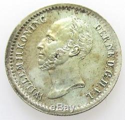 Nederland 10 Cents 1849 met punt Willem II FDC