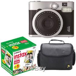 New Fuji Instax mini 90 Neo Classic Instant Film Camera + 50 Shots Film + Case