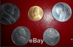 Nl Vaticano Pio XII Serie Completa 1950 Con 100 Lire In Oro Fdc Set Zecca