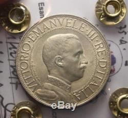 Nl Veiii 2 Lire Argento 1911 Quadriga Veloce Rr R2 Spl+/q. Fdc Perizia Filisina