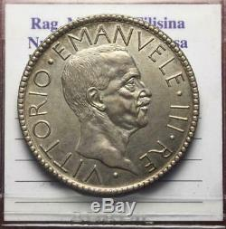Nl Veiii 20 Lire Argento 1927 Littore Nc Q. Fdc Periziata Filisina Massimo