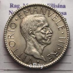 Nl Veiii 20 Lire Argento Littore 1927 VI Q. Fdc/fdc Perizia Filisina Massimo