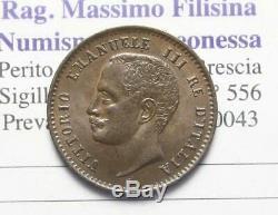 Nl Veiii Italia 2 Centesimi Valore 1907 Molto Rara R2 Fdc Perizia Filisina M