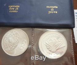 Nlitalia 1000 Lire 1970 Prova In Argento + 1000 Lire Ag Molto Rara Fdc Set Zecc