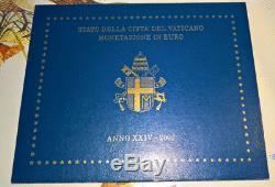 Nlvaticano Giovanni Paolo II Divisionale Anno 2002 8 V Fdc Set Originale Zecca