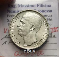 Nlveiii Re D'italia 10 Lire Argento Biga 1928 Nc Q. Fdc/fdc Perizia Filisina
