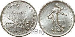 O8850 Rare 1 Franc Semeuse 1960 Petit 0 SPL FDC! -Faire offre