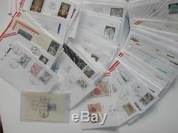 ÖSTERREICH über 3100 Ersttage (FDC) ab 1955 bis in die 90er Briefe u. Karten