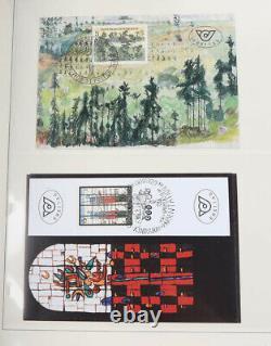 Österreich Sammlernachlass in 8 Alben, viele postfrische Neuheiten, FDC usw