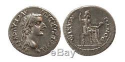 PCW-R4418-ROMAN EMPIRE. Tiberius 14-37 AD. AR Denarius Tribute Penny FDC
