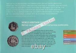 PNC Australia/UK 2005 World Heritage Sites RAM 50c Coin & UK 50p Coin L/E 30000