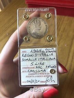 PROVA DI STAMPA REGNO D' ITALIA SOMALIA 5 LIRE 1925 RARISSIMA sigillata FDC